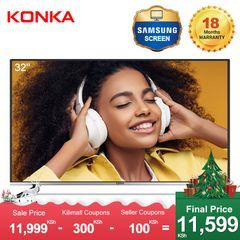 KONKA 32''HD Digital LED TV(Final Price Only 11599KSH Upon Deduction 2 Limited Vouchers) Black 32