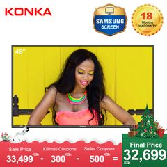 KONKA 49'' Smart 4K UD Android TV(Final Price Only 32699KSH Upon Deduction 2 Limited Vouchers) black 49  inch