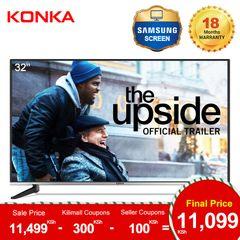 KONKA 32''HD Digital LED TV(Final Price Only 11099KSH Upon Deduction 2 Limited Vouchers) Black 32