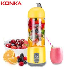 KONKA 420ML Portable Electric Juicer Blender USB Mini Fruit Mixers Juicers Fruit Extractors Yellow
