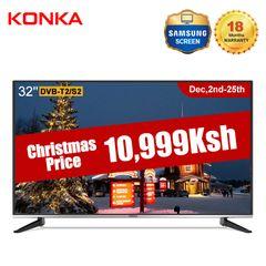 KONKA 32''HD Digital LED TV(Christmas Sale Price only 10999KSH Gift for Sweet Home) Black 32