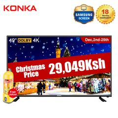 KONKA 49'' Smart 4K UD TV with Free 420ML Juicer(Price only 29049KSH Christmas Gift for Sweet Home) black 49  inch
