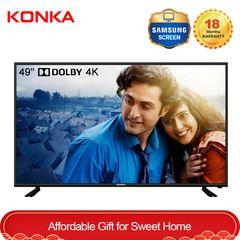 KONKA 49'' Smart 4K UD Dolby TV Oscar Festival Sale Only 27999KSH Netflix Android 9.0 black 49  inch