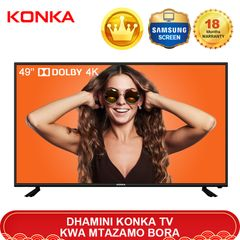 Limited 50PCS KONKA 49'' Smart 4K UD Dolby TV Queen's Day Sale Only 26999KSH Netflix Android 9.0 black 49  inch