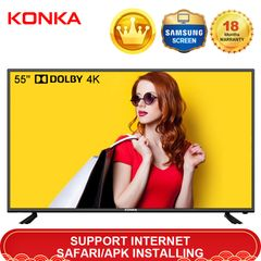 Limited 50PCS KONKA 55'' Smart 4K UD Dolby TV Queen's Day Sale 33999KSH Netflix Android 9.0 black 55 Inch