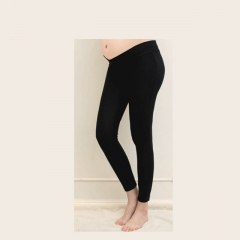 maternity leggings Low Waist Pregnancy Belly Pants spring and autumn cotton pregnant high elasticity black M
