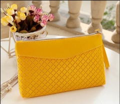New style special price utility long, multi-purpose Ladies Large Mobile Phone Wallet Zipper Bag yellow one size