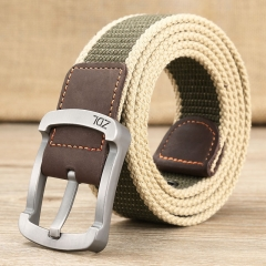military belt outdoor tactical belt men&women high quality canvas belts for jeans male luxury casual Khaki tarmac one size
