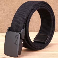 Thickened canvas belt, casual outdoor belt, men's Korean version of tidal belt. black one size