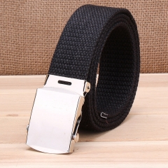 Military casual canvas belt, military tactical belt belt buckle belt black one size