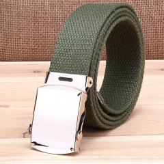 Military casual canvas belt, military tactical belt belt buckle belt army green one size