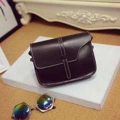 Women's bag,shoulder bag, lady's handbag, little fragrant breeze, old style MINI SQUARE bag. black one size