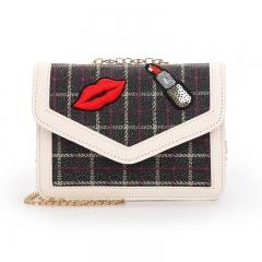 Small bag girl 2018 new Korean version ins super fire Bag Satchel Bag black one size