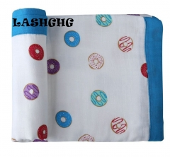 Four layers of bamboo fiber cotton baby blanket blanket Muslin blanket blanket newborn baby. 1 120*120cm