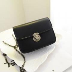 New summer retro bag chain Mini single shoulder sloping fashion bag, fruit color lady bag black one size