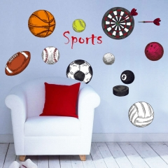 SK7095 basketball Rugby Football dart indoor loading PVC material DIY wall sticker mural