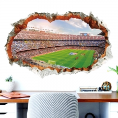 New World Cup series wall stickers XH9305 3D 3D hole football field decorative wall stickers