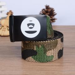 Ape man camouflage double-sided weave, tide man Leisure Canvas Belt, canvas belt style2 one size