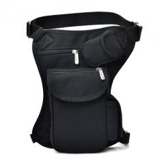 pack outdoor tactical multi function leg bag, men's bag leisure sports waist bag fishing tackle bag black one size