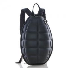 Children's backpack creative grenade backpack grenade bag bomb turtle shell shoulder bag black one size