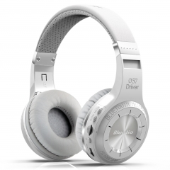 Blue string H+ Bluetooth headset head mounted wireless phone headset insert memory card radio music white
