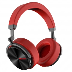 Bluedio T5 Bluetooth headset head type active noise reduction sports wireless headset mobile red