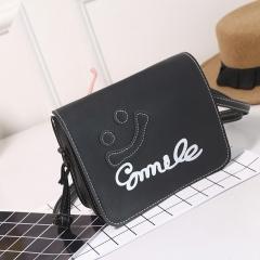 spring summer small bag smiley face candy single shoulder cross shoulder bag student bag girl. black one size