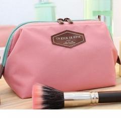 Multifunctional fashion cotton bag portable gargle bag cosmetic bag canvas bag pink one size