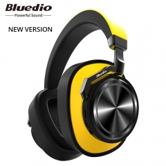 Bluedio T6 Active Noise Cancelling Headphones Wireless Bluetooth Headset with microphone for phones yellow