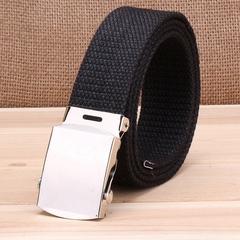 Military casual canvas belt, military tactical belt belt buckle belt black one size