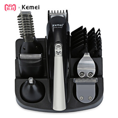KM - 600 Professional Hair Trimmer 6 In 1 Hair Clipper Shaver Sets Electric Shaver Beard Trimmer black one size