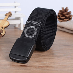 Anti-skid and Wear-resistant Thickened Flipped Nylon Belt for Outdoor Sports Mountaineering black one size