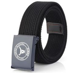 Korean version of nylon canvas belt black one size