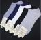 Natural Grace Mens Invisible Socks- Black/Grey/White - 3 Pairs  Pure Cotton Socks Breathable  Gift black Telescopic elastic