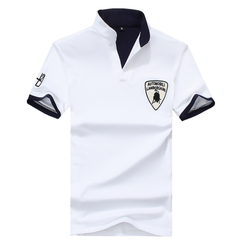 Fashion Men's Polo Shirt For Men Desiger Polos Cotton Short Sleeve  Clothes Jerseys Golftennis Plus white xxxxl 100%cotton
