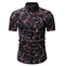Matatu Fashion dresses printed Check Pattern Collar Short Long Sleeve Shirt - Brown Multi  Hot sale DN-01 xxl