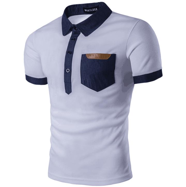 Solid Tshirt Pocket Design Dresses Matatu T-shirts O-Neck Slim Fit Fashion Harajuku Hot Tees Tops white xxxxl cotton