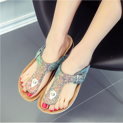 Fashion Fohting Summer Women Shoes Platform Bath Slippers Wedge Beach Flip Flops black 39