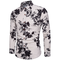 Fashion Men Shirt Fashion Long Sleeve  New Palace Style Embroidery Slim Fit Male Turn-Down Collar black flower xxxxl