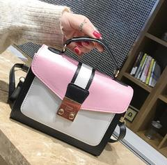 2019 Hot Good Quality and Low Price Fashion Lovely lady Handbags Purse Satchel Women shoulder bag pink free one
