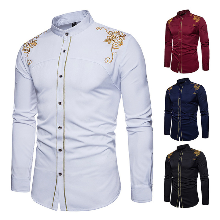 Explosion promotion, good quality and cheap, crazy purchase Fashion Men Casual Shirts Men  Dress white xxl