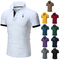 Fashion Mens Dress Casual Slim Fit Short Sleeve Polo Shirts Cotton !!!Big Discount please buy quick white XXL  (72KG-80KG) 100%cotton