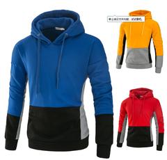 Long Sleeve Hoodie Men 2019 Dress Sweatshirt Solid Color Fleece Tracksuit  Hip Hop Male blue m