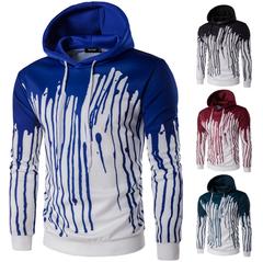 New  Mens high quality hooded hoody fashion casual silm fit printing sweatshirts  hodies jacket B\(≧▽≦)/ue m