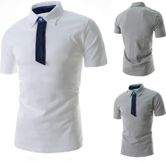 African Unique Men Casual Short Sleeve T Shirts V-neck Slim Fit Tops Summer limited purchase, Gray xl  (65kg-72kg) 100%cotton