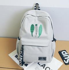 Fashion Backpacks Travel Ladies Handbags School bags Canvas Printed,crazy purchase,Good Quality gray free one