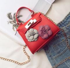 Low-price crazy purchase, time limit of 3 days! Fashion new design Women One-shoulder Flower handbag red free one