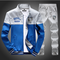 New Fashion Hoodies Casual Mens Tracksuits Sweartshirts Jacksts+Pants Men Tracksuit Set Hooies+Pants Blue s
