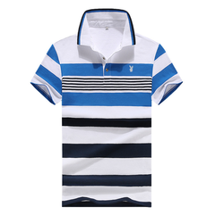 100% Cotton Matatu Dress Men Polo Shirt New Design 2018 Casual Striped Slim short sleeves Blue s  (45kg-50kg) 100%cotton
