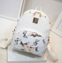 Women new Fashion Backpacks Travel Ladies Handbags School bags Printed,crazy purchase,Good Quality black1 free one